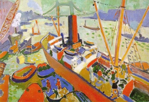 Andre Derain. The Pool of London. 1906. Oil on canvas.