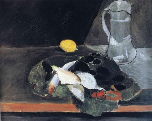 Анри Матисс. Натюрморт с рыбой и лимоном. 1896