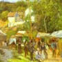 Camille Pissarro. A Fair at l'Hermitage near Pontoise. c.1878. Courtauld Institute Of Art Gallery
