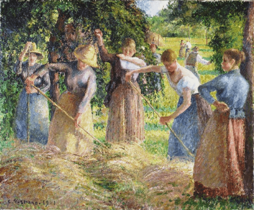 Camille Pissarro. Hay Harvest at Éragny. 1901. Nat Gallery of Canada
