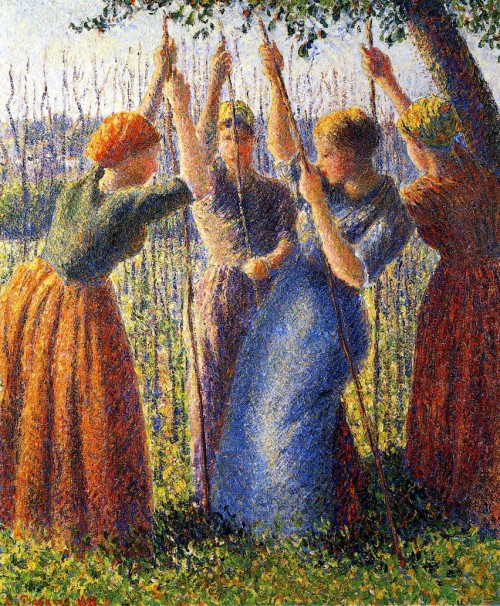 Camille Pissarro. Peasant Women Planting Stakes. 1891