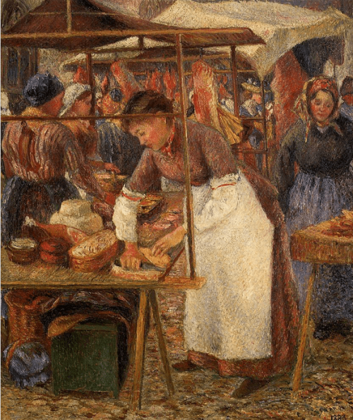 Camille Pissarro. The Pork Butcher. 1883. Tate Britain, London, England, UK.