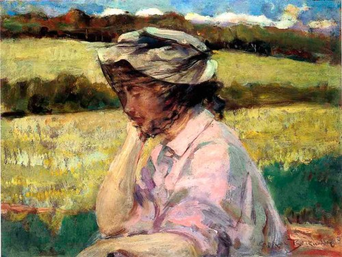 Carroll Beckwith (1852-1917). Lost in Thought. 1908