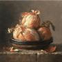 Dan Truth. Bowl of Onions. Oil on board