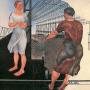 Дейнека А.А. На стройке новых цехов. 1926 г. Государственная Третьяковская Галерея.