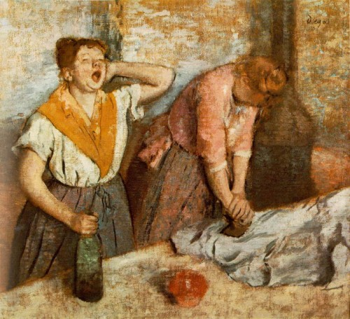 Edgar Degas. Les repasseuses. 1884. Oil on canvas. Orsay Museum.
