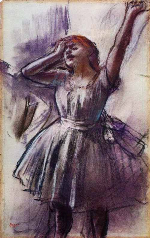 Edgar Degas. Tired Dancer. c.1882-85. Pastel. Kimbell Art Museum, Fort Worth, TX, USA