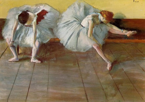 Edgar Degas. Two ballet girls, ca. 1879.