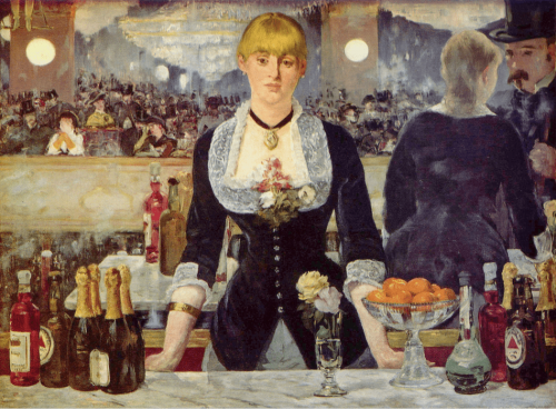Edouard Manet. Bar im Folies-Bergere. 1882. Courtauld Institute of Art, London.