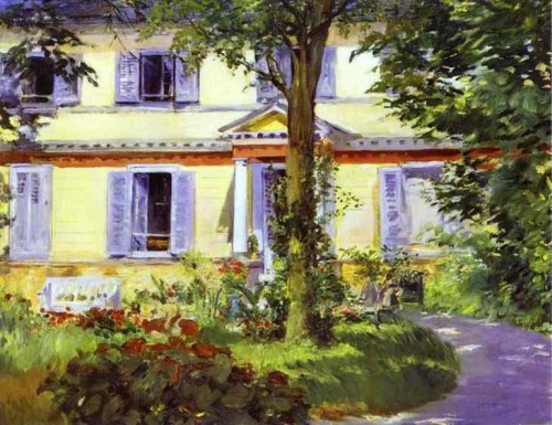 Eduard Manet. House at Rueil. 1882