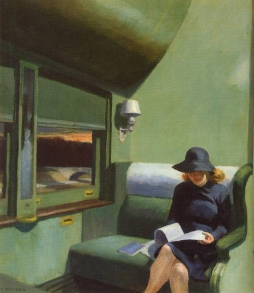 Edward Hopper. Compartment C, Car. 1938. Oil on Canvas.