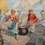 Ernesto Dick (Italian, 1889-1959). Panni al vento.