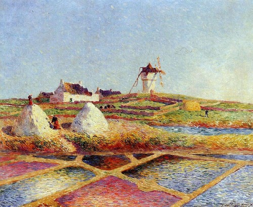 Ferdinand du Puigaudeau. Landscape with Mill near the Salt Ponds. 1902.