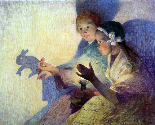 Ferdinand du Puigaudeau. Chinese Shadows, the Rabbit. 1895