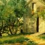 Frederick Childe Hassam. White Barn. 1882.