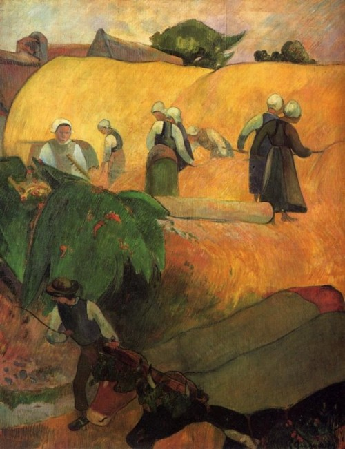 Gauguin Paul. Haymaking in Brittany. 1889. Courtauld Institute Of Art Gallery