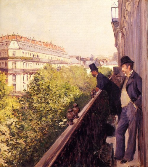 Gustave Caillebotte. A balcony. 1880. Oil on canvas. Private collection.