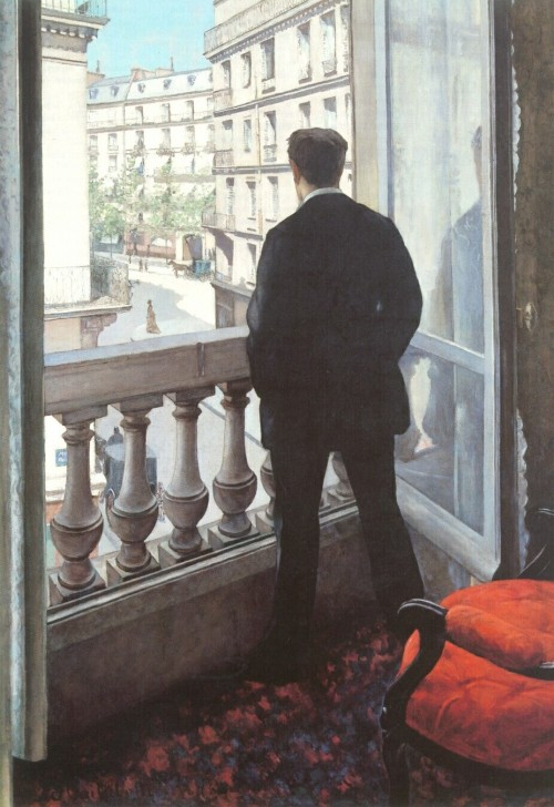 Gustave Caillebotte (1848 - 1894). A young man at his window. 1875