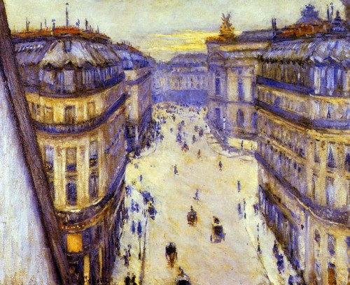 Gustave Caillebotte. Rue Halevy. Seen from the Sixth Floor. 1878. Oil on canvas. Private collection.