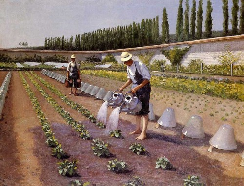 Gustave Caillebotte. The Gardeners. 1875 - 1877. Oil on canvas. Private collection
