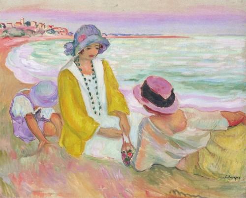 Henri Lebasque. On the beach. 1914