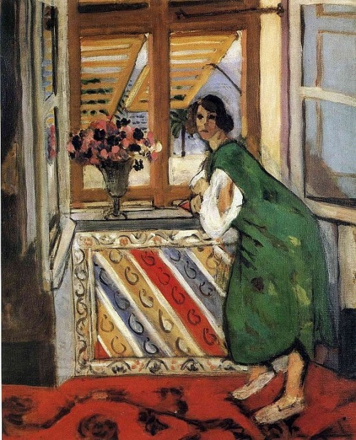 Henri Matisse. Young Girl In A Green Dress. 1921. OIl on canvas, 65 x 55 cm, Private Collection