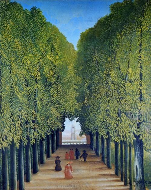 Henri Rousseau. Allée au parc de Saint-Cloud. 1908.