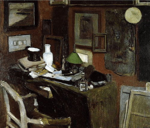 Henry Matisse. Interior with a top hat. 1896