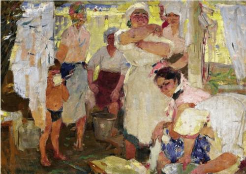 Котов Пётр Иванович. Стирка. 1934