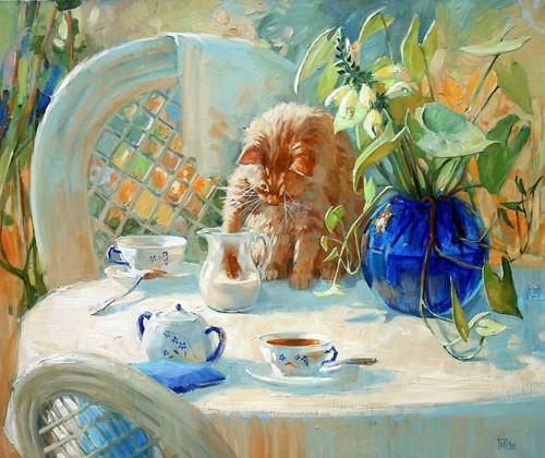 Мария Павлова. Чай с молоком. 2010 г. Холст. Масло. 70 х 80 см