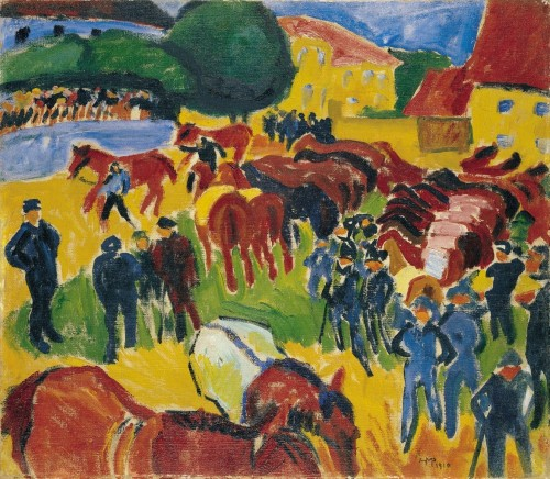 Max Pechstein (1881 - 1955). Feria de caballos, 1910. Museo Thyssen-Bornemisza