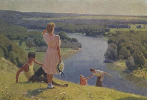 Лихачев М.И. На родных просторах. 1952