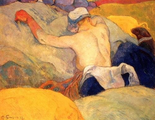 Paul Gauguin. Farmers working (fr. En pleine chaleur). 1908