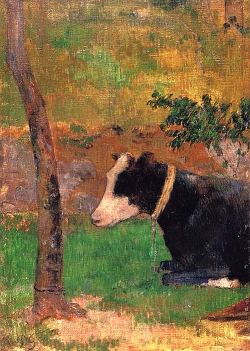 Paul Gauguin. Portrait of a cow.