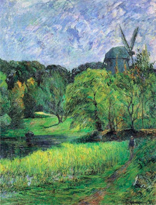 Paul Gauguin. Windmil, Ostervold Park. Ny Carlsberg Glyptotek.