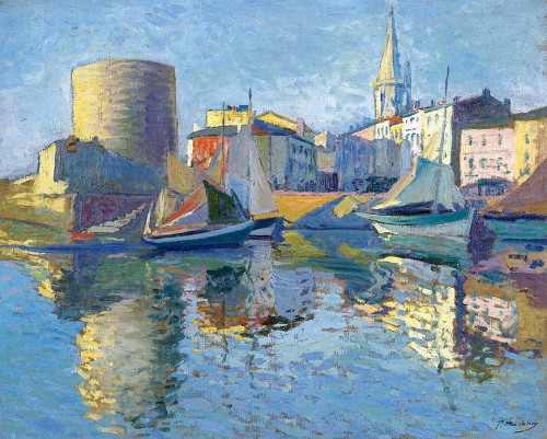 Paul Madeline (1863-1920). La Roshelle - View on the Port by the Angle.