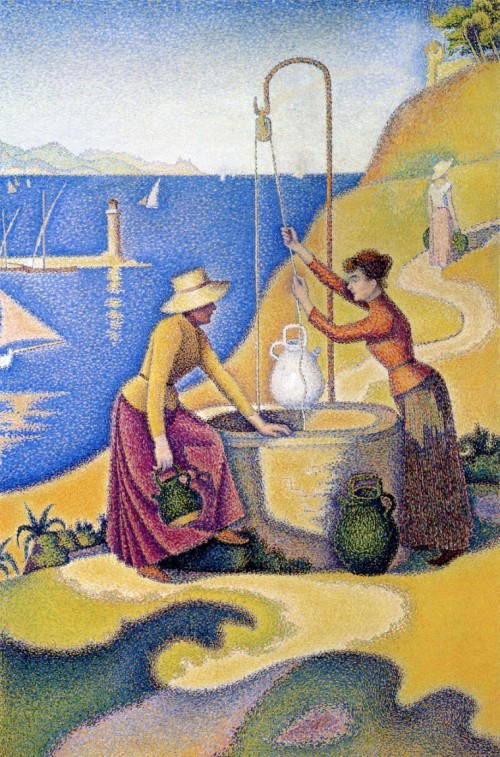 Paul Signac. Women at the well. 1892-93