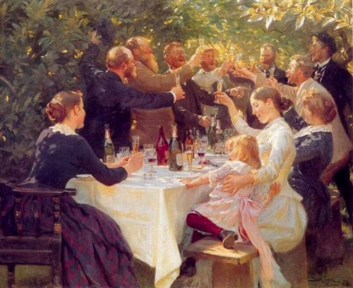 Peder Severin Kroyer. Hip Hip Hurra. 1888. Gothenburg Museum of Art