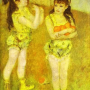 Renoir Pierre Auguste. Zwei kleine Zirkusmädchen. 1879.