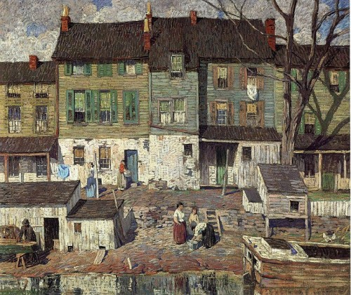 Robert Spencer (1879-1031). On the canal, new hope. 1916. Detroit Institute of Arts Museum