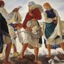 Серебрякова, Зинаида Евгеньевна. Беление холста. 1917 г. Государственная Третьяковская галерея