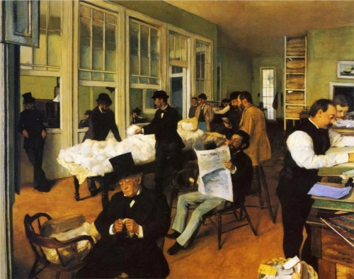 Edgar Degas. The Cotton Exchange in New Orleans. 1873