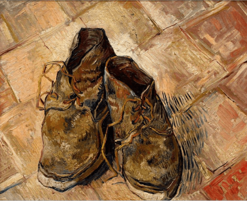 Vincent van Gogh. A Pair of Shoes. 1886. Van Gogh Museum, Amsterdam, Nederlands.