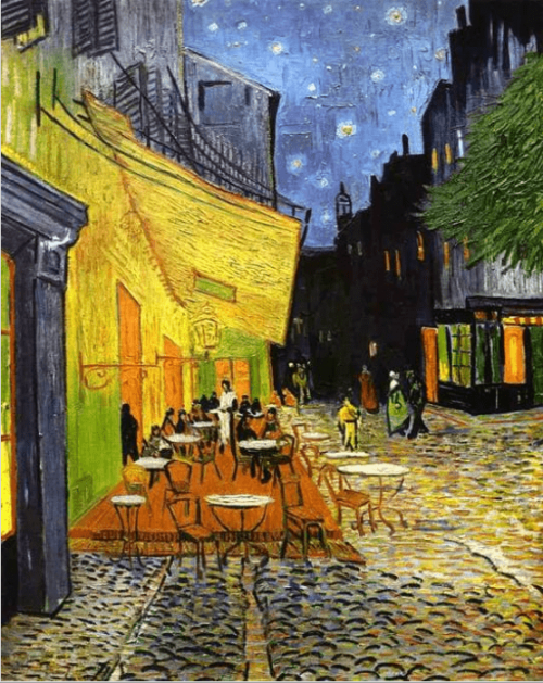 Vincent van Gogh. Cafe Terrace at Night. 1888. Kröller-Müller Museum
