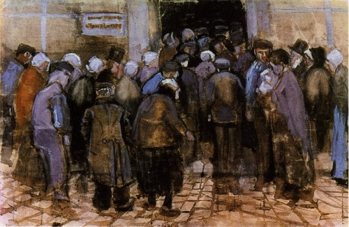 Gogh, Vincent Willem van. The Poor and Money. June 1883. Watercolor, 38 × 57 cm (15 × 22.4 in). Van Gogh Museum, Amsterdam