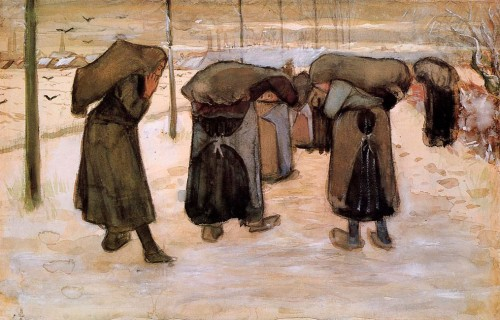 Vincent van Gogh. Woman Miners Carrying Coal. 1882. Kröller-Müller Museum