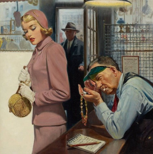 Walter Martin Baumhofer. At the moneylender